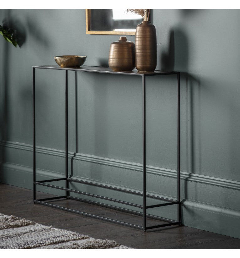 Tedstone Console Table Antique Copper/Gold/Silver