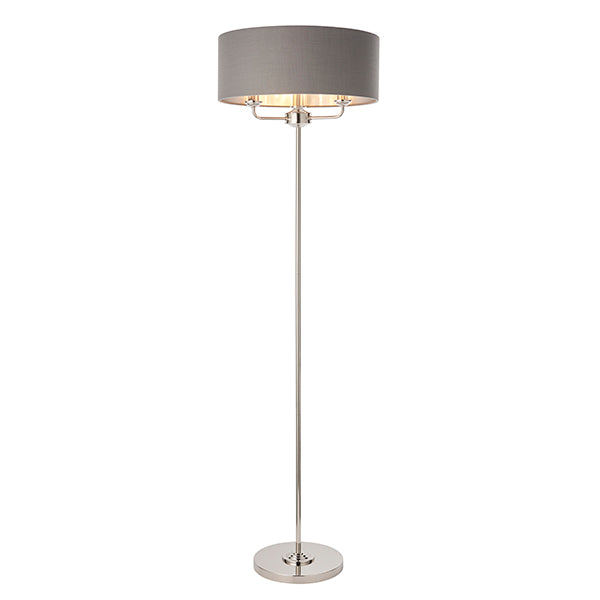 Charcoal 3 Light Floor Lamp