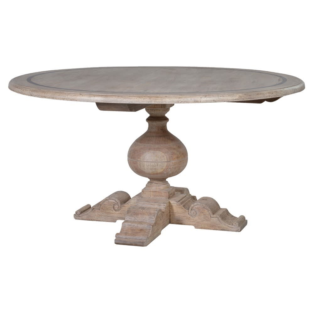 Imperial Grey-wash Round Dining Table