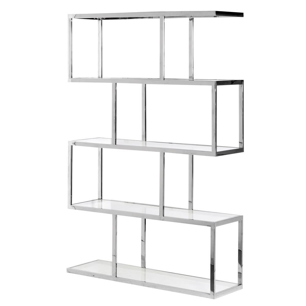 Metal and Glass Multi Shelves Unit