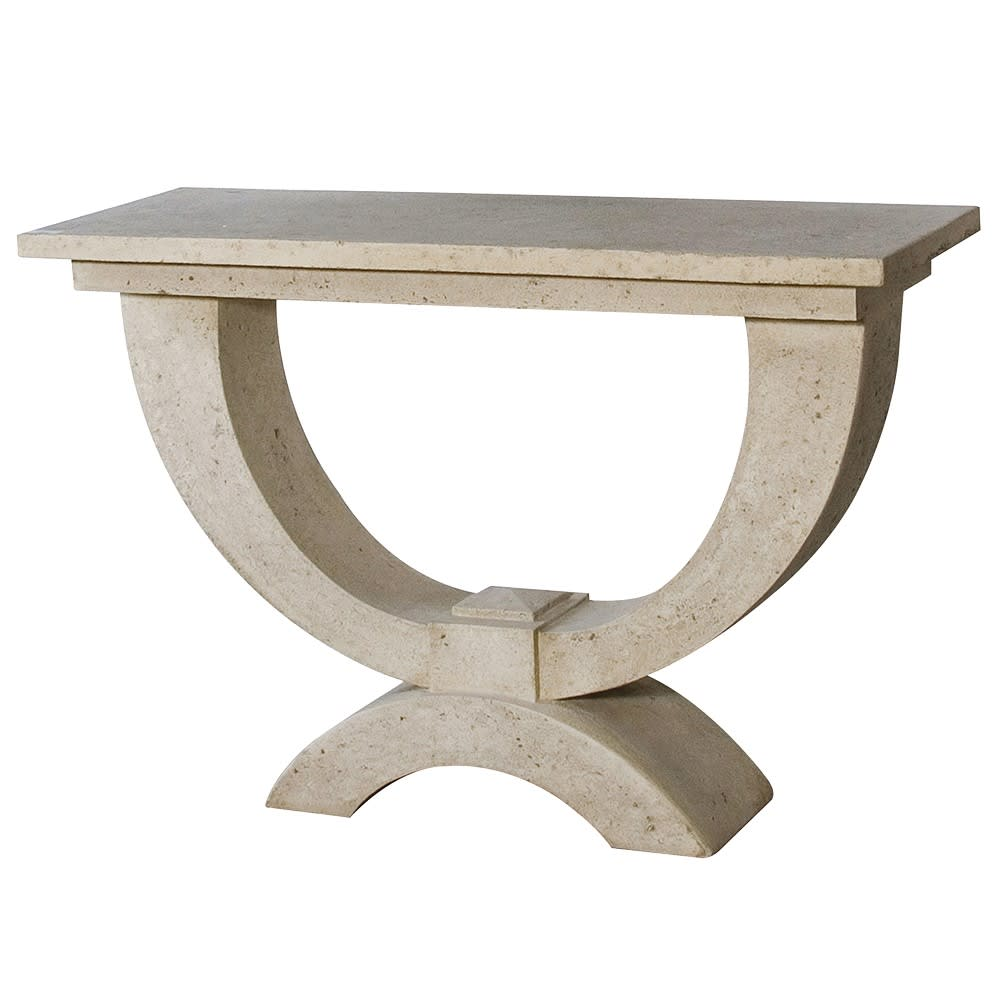 Moderno Console Table in Roman Stone Finish