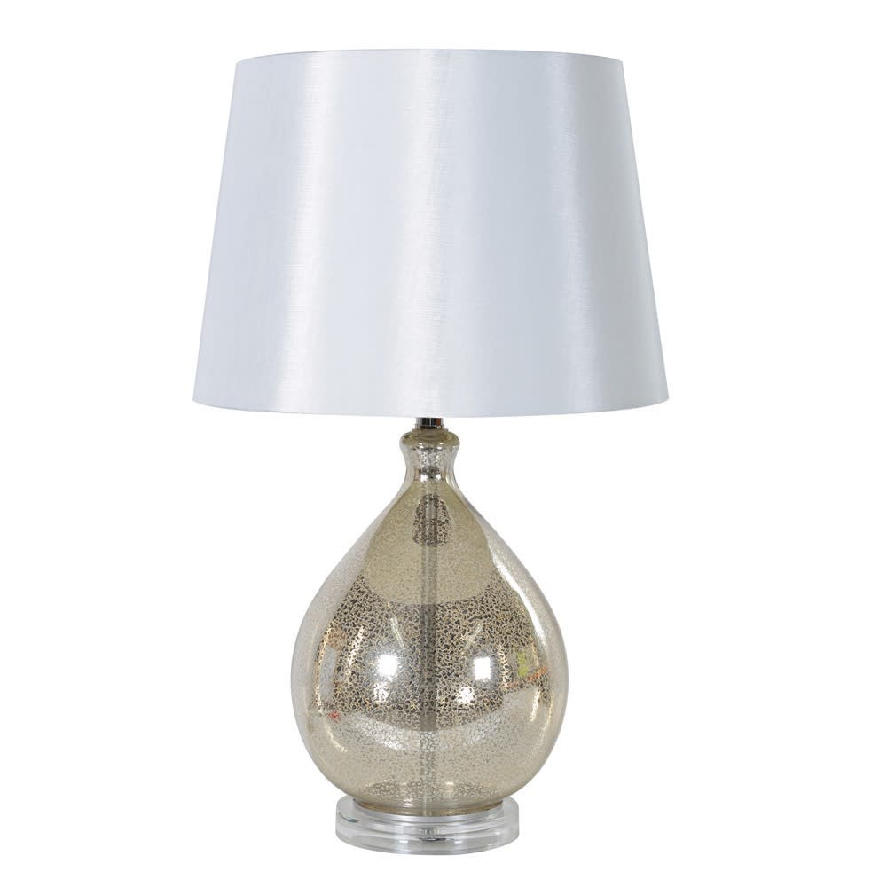 Mottled Glass Table Lamp with Shade