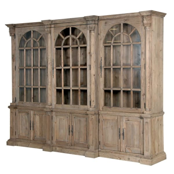 Colonial Reclaimed Triple Display Cabinet