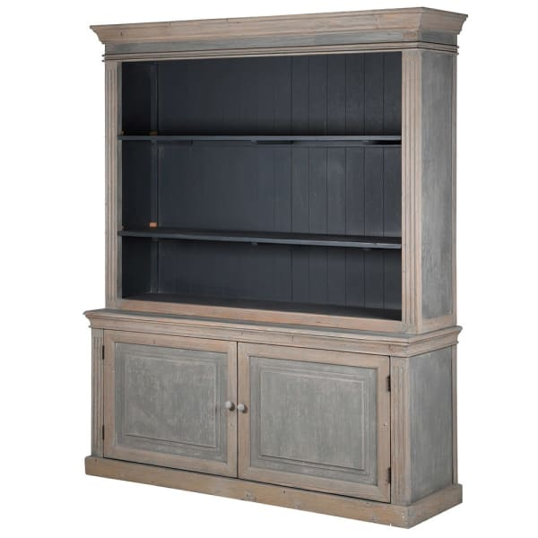 Blue-wash Distressed 2 Door Dresser