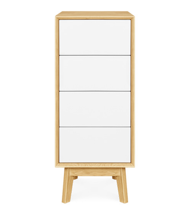 Vienna Narrow 4 Drawer Chest