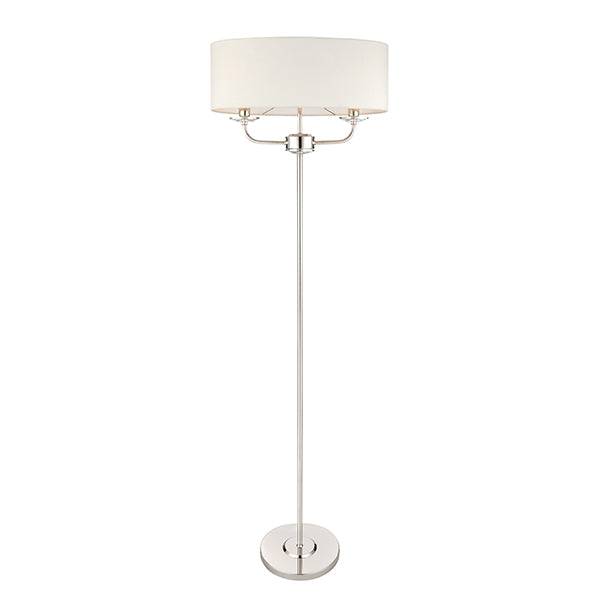 Nickel 2 Light Floor Lamp