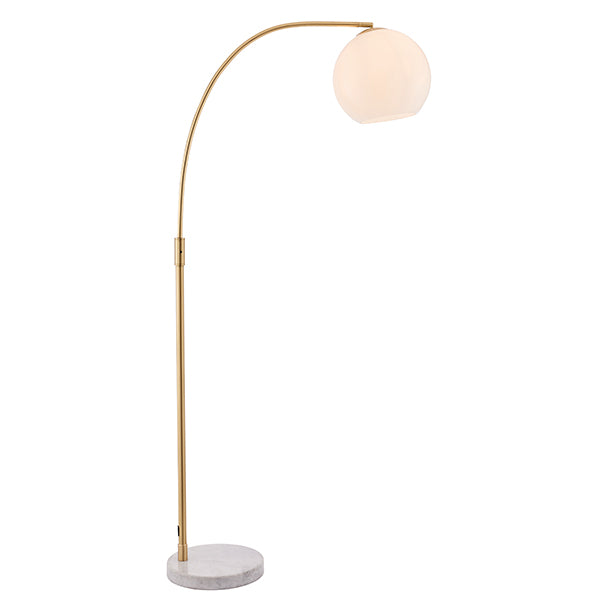 Gloss White Glass Ball Floor Lamp