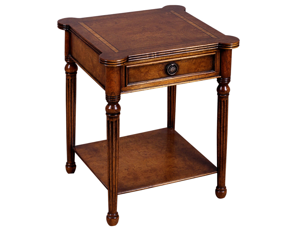 Prestcott Lamp Table with Drawer