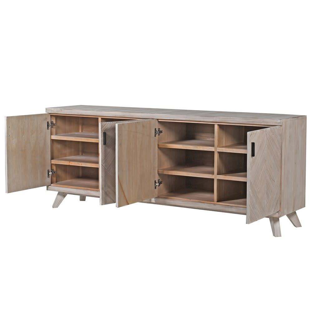 Pale Fir Parquet Sideboard