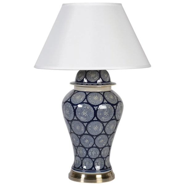 Patterned Temple Jar Lamp