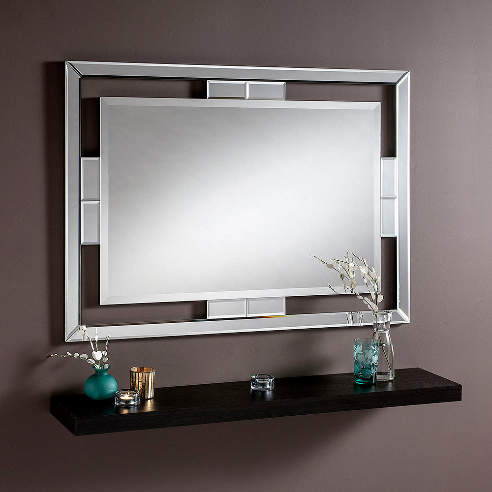 Silver Mirror Frame Wall Mirror