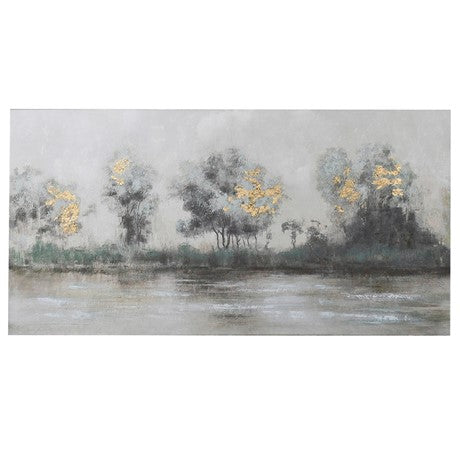 River Scene Oil Painting