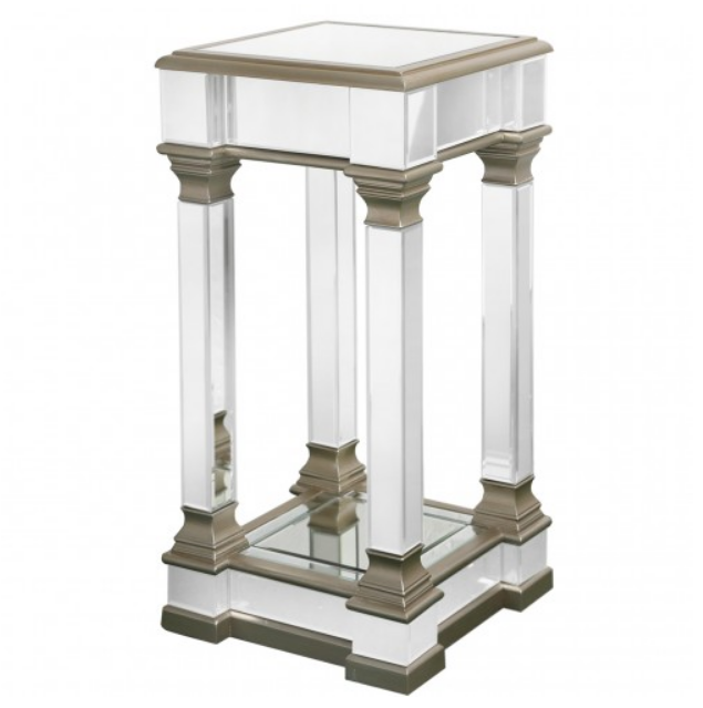 Rollo Medium Champagne Tall End Table