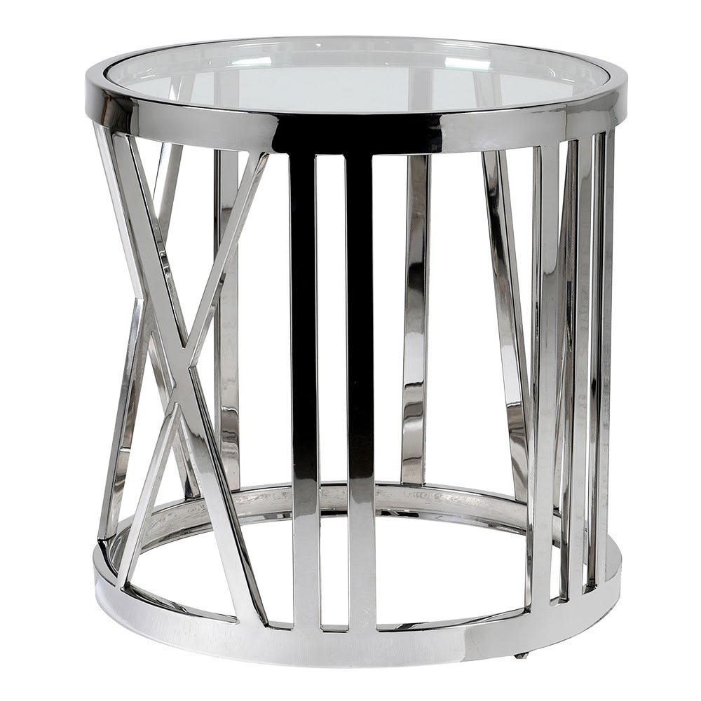 Roman Number Steel Side Table