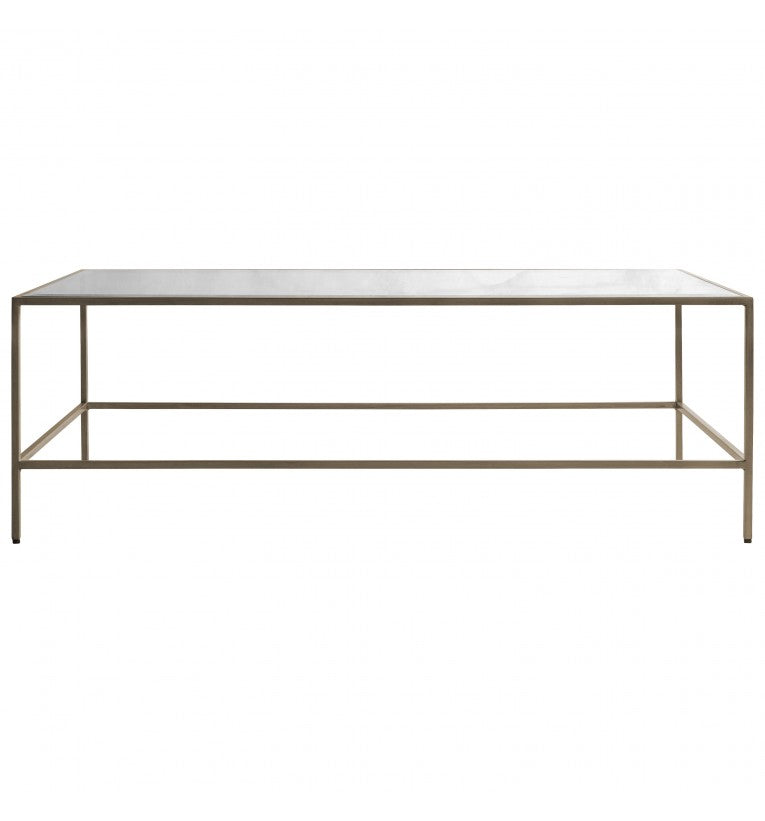 Rothberg Glass Top Coffee Table Silver/Bronze/Champagne