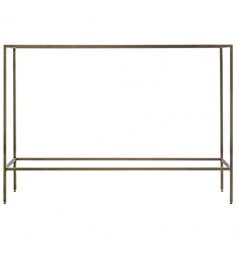 Rothberg Glass Top Console Table Silver/Bronze/Champagne