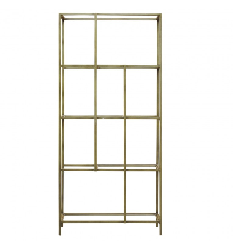 Rothberg Clear Glass Display Unit Silver/Bronze/Champagne