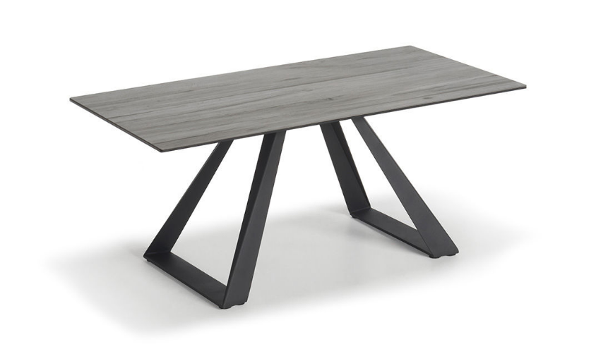Black Base Grey Wood Effect Top Coffee Table