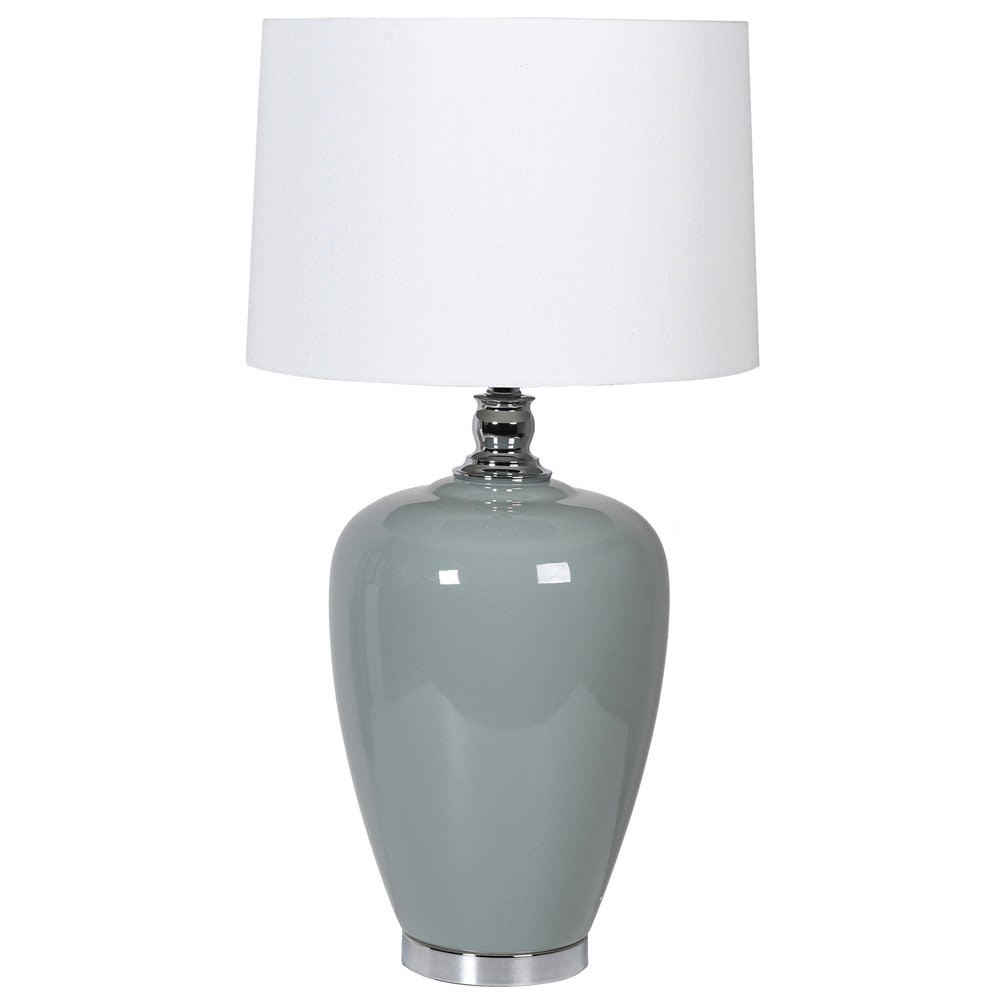Soft Blue Ceramic Lamp