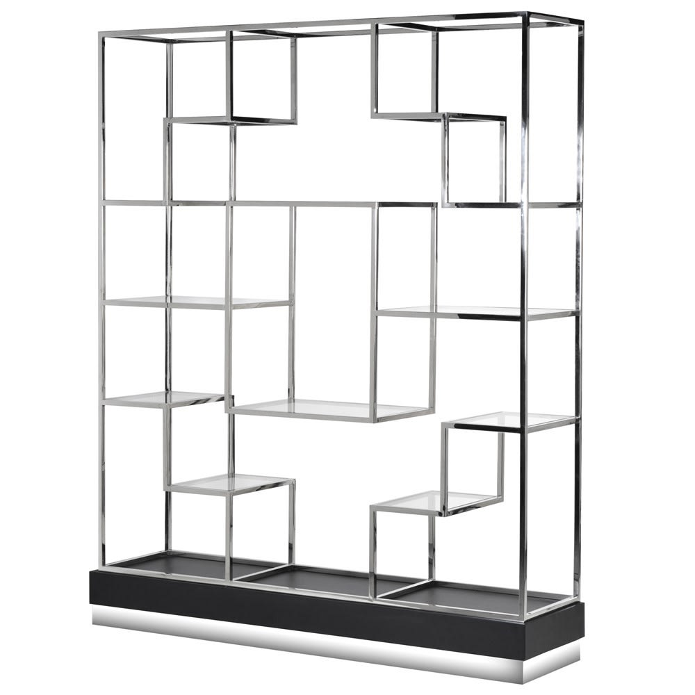 Stepped Stainless Steel Bookshelf