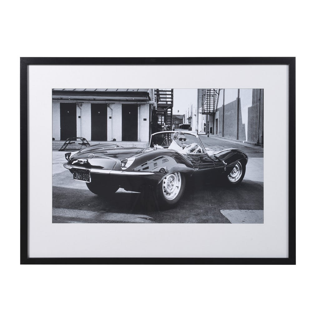 Steve Mcqueen with Jaguar Print