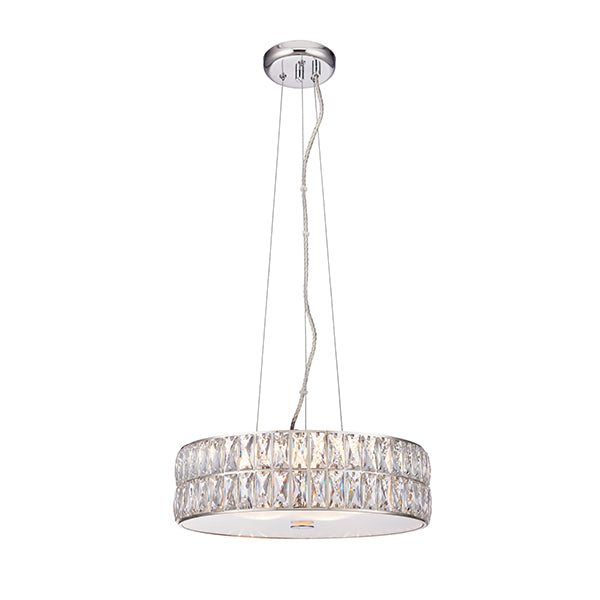 Clear Crystal 5 Light Ceiling Lamp
