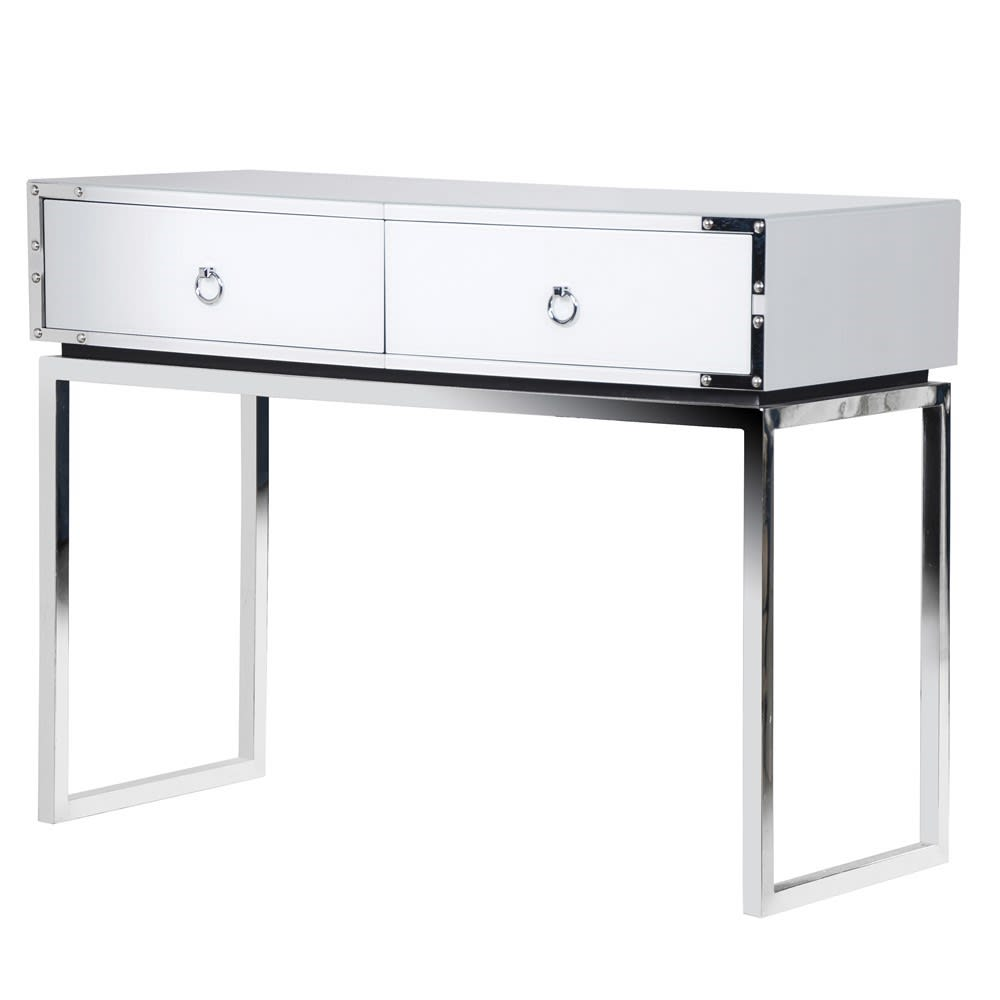 White Venetian Console Table
