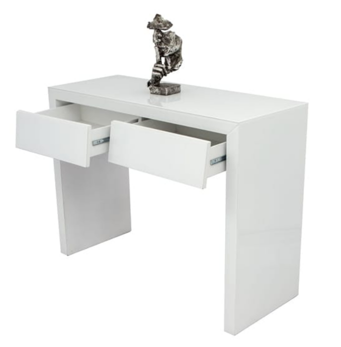 2 Drawer White Mirrored Dressing Table