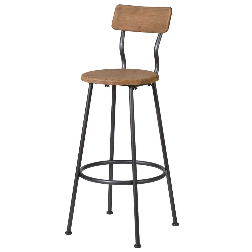 Wood and Metal Bar Chair