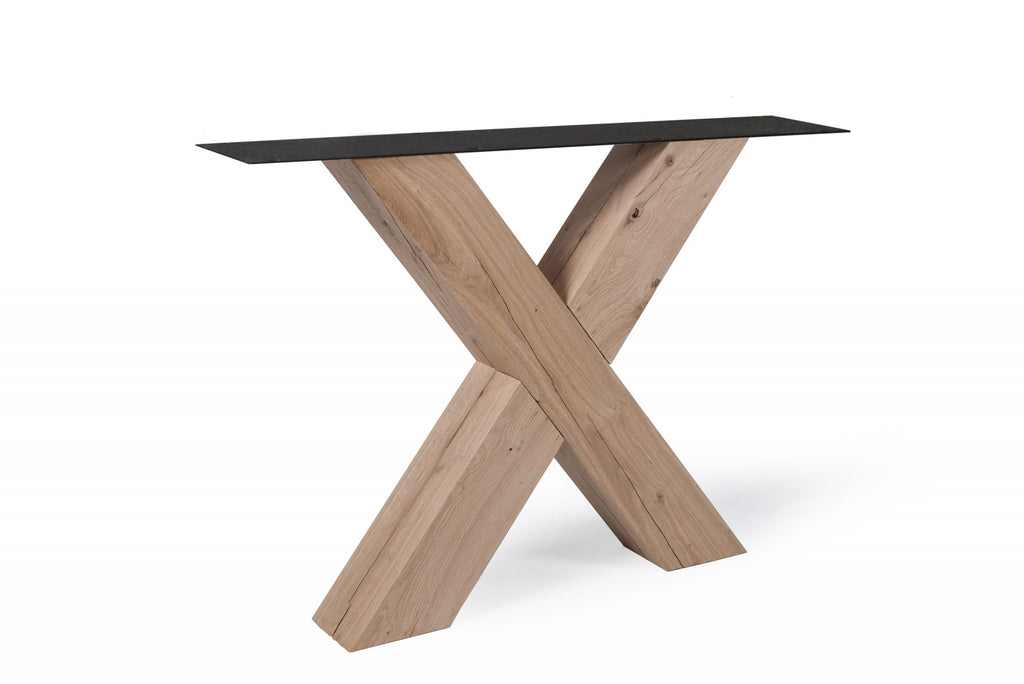 Castle Line Wooden Rectangle Table with Different Bases