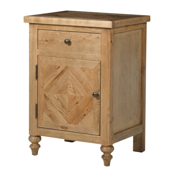 Ribchester Oak Bedside Cabinet with Drawer