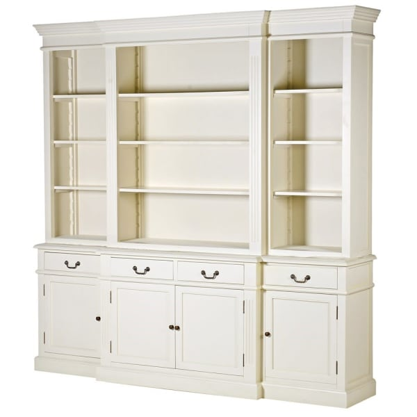 Large Cream Breakfront 4 Drawer Dresser