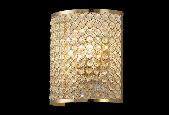 Ava 2 Light French Gold Wall Light