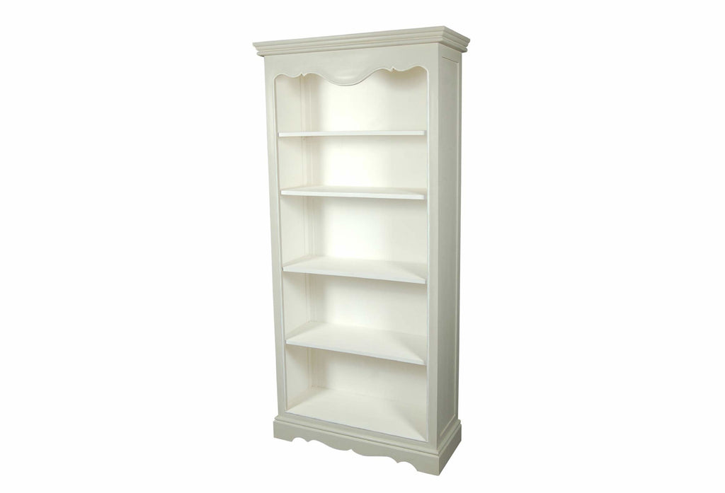 Avignon Off White 5 Shelf Bookcase