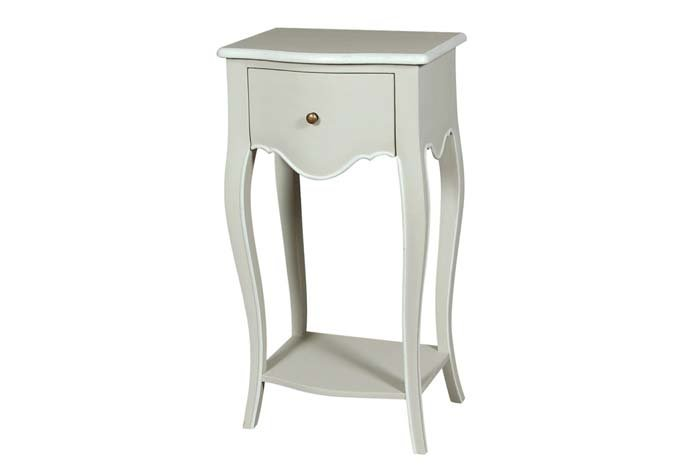 Avignon Off White 1 Drawer Side Table