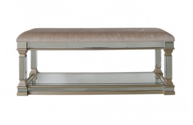 Rollo Mirrored Champagne Bench