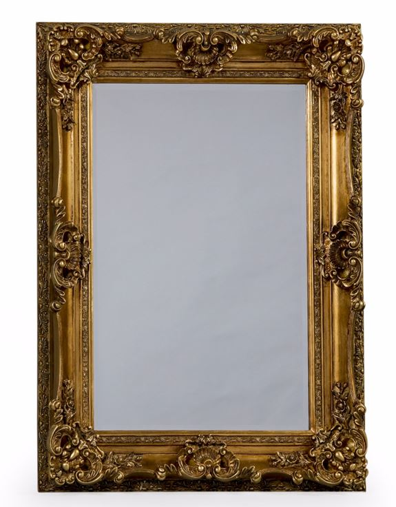 Antique Gold Regal Wall Mirror