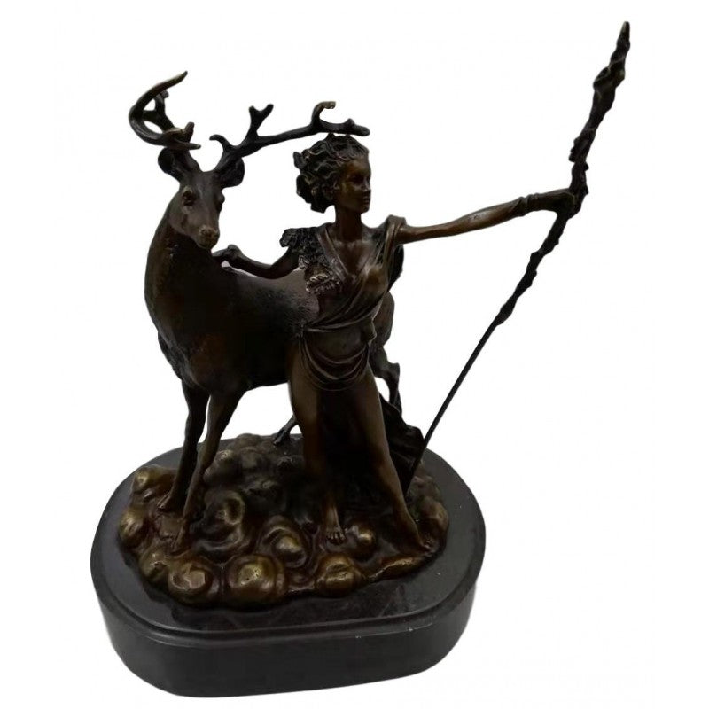 Bronze sculpture of Diana the Huntress - Goddess of the Hunt