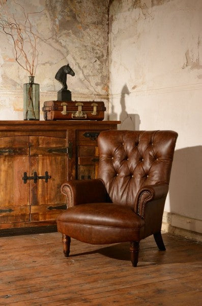 Leather Calvay Chair
