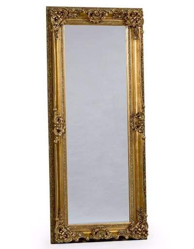 Antique Gold/Silver Tall Regal Mirror