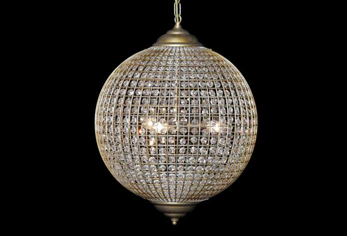 Large Gold Globe Pendant Light