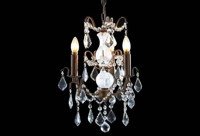 Antique Style 3 Light French Gold Chandelier