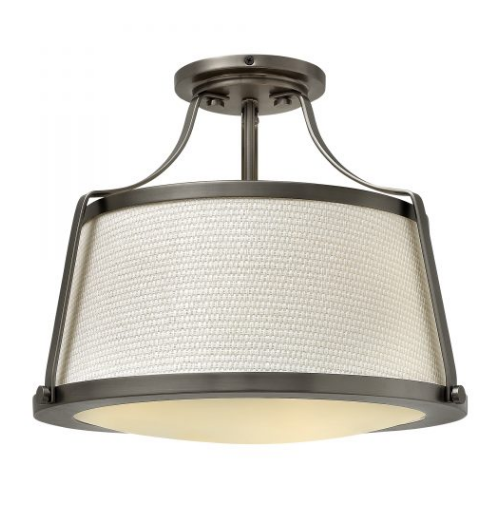 Chase Light Semi-Flush – Antique Nickel