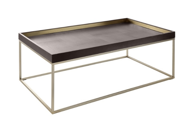 Champagne Boxed Top Chocolate Coffee Table