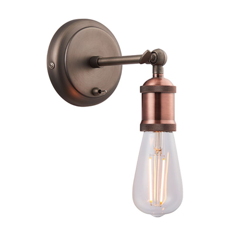 Copper Plated Single Wall Lamp