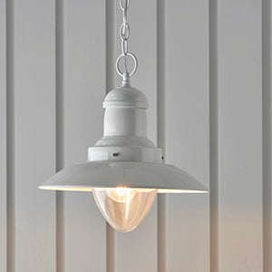 Cream Gloss Fisherman's Ceiling Light
