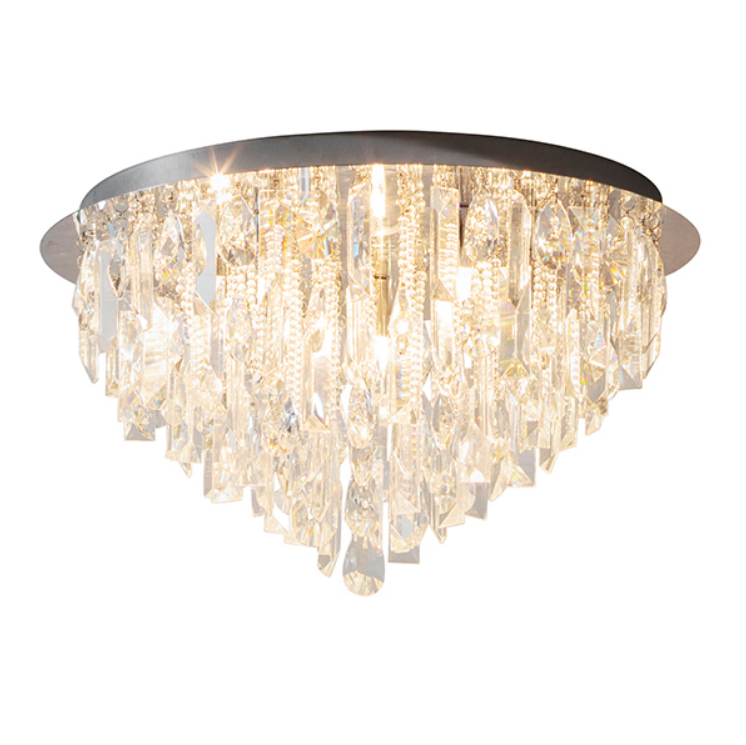 Glass 5 Light Ceiling Lamp