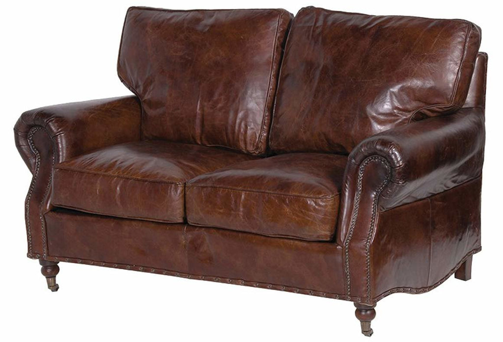 Grantham Leather 2 Seater Sofa