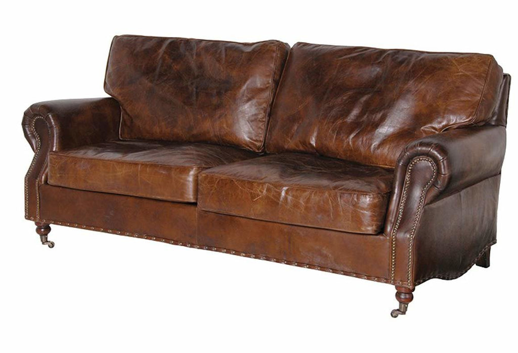Grantham Leather 3 Seater Sofa