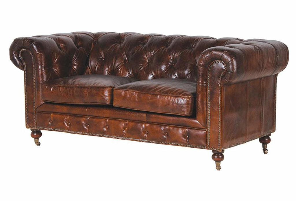 Hambleton leather 2 Seater Chesterfield Sofa